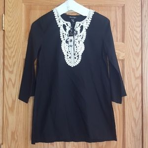 New tunic swim cover up 100% cotton lace detail